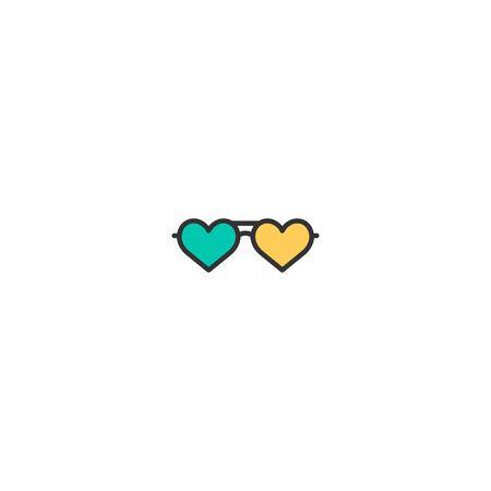 Sun glasses Icon Design. Lifestyle icon vector illustration