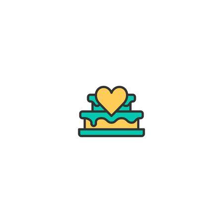 Wedding cake Icon Design. Lifestyle icon vector illustration Standard-Bild - 129168334