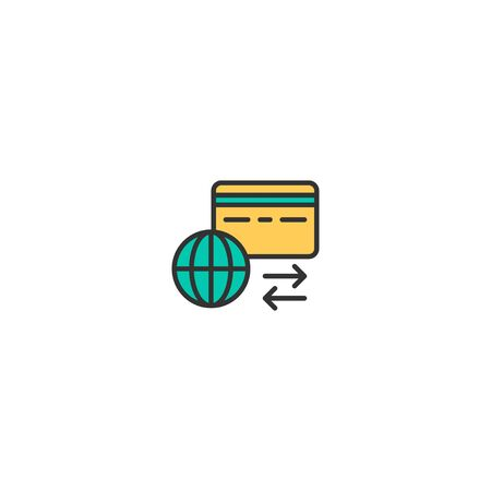 Credit card icon design. Shopping icon vector illustration