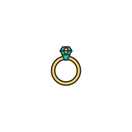 Engagement ring Icon Design. Lifestyle icon vector illustration