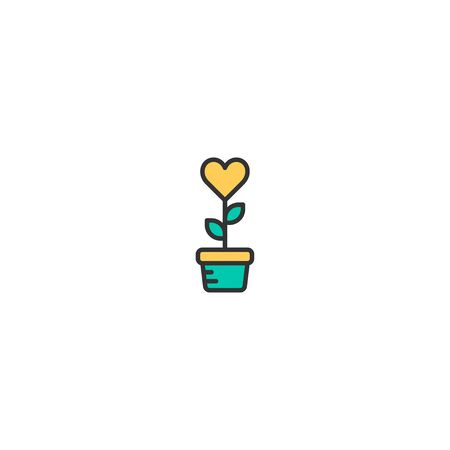 Plant Icon Design. Lifestyle icon vector illustration