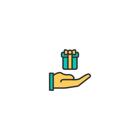 Gift Icon Design. Lifestyle icon vector illustration Illusztráció