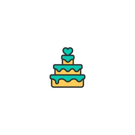 Wedding cake Icon Design. Lifestyle icon vector illustration Standard-Bild - 129274897
