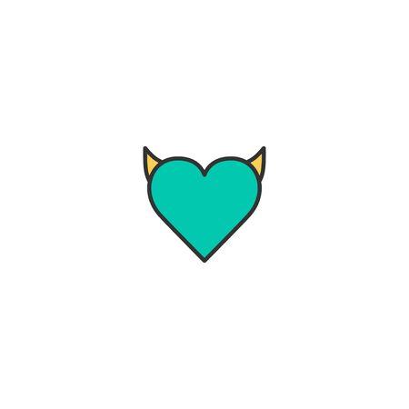 Heart Icon Design. Lifestyle icon vector illustration