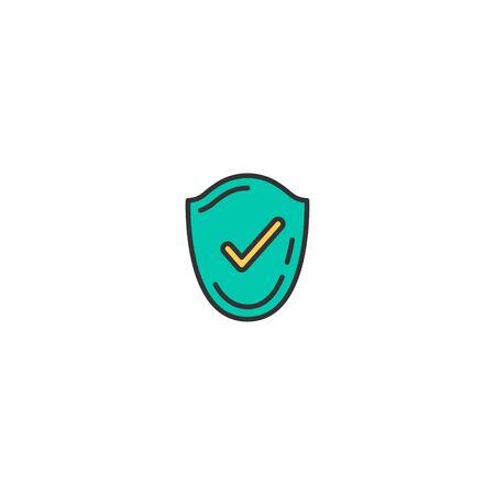 Checked icon design. Shopping icon vector illustration 写真素材 - 129274922