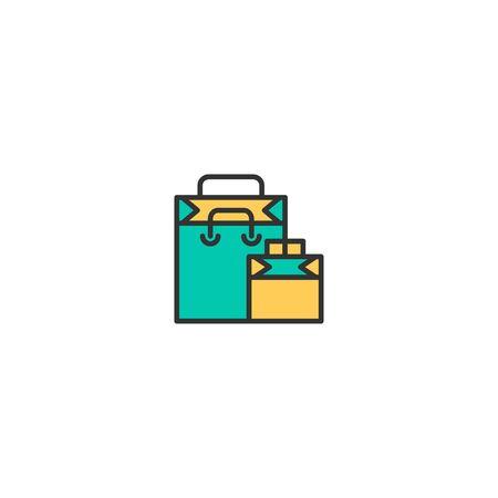 Shopping bag icon design. Shopping icon vector illustration