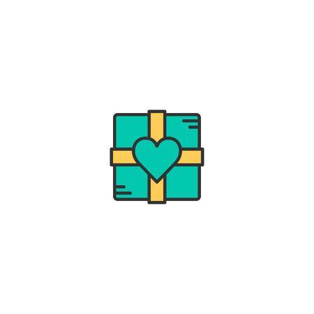 Chocolate box Icon Design. Lifestyle icon vector illustration