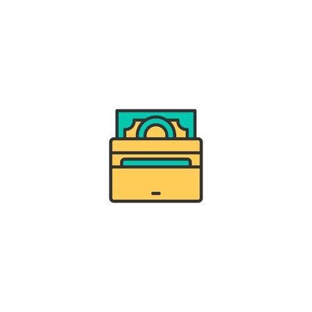 Wallet icon design. Shopping icon vector illustration