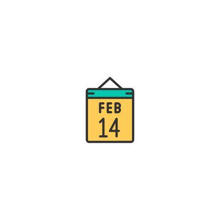 Valentine day Icon Design. Lifestyle icon vector illustration Illusztráció