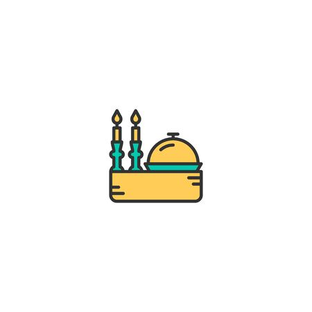 Dinner Icon Design. Lifestyle icon vector illustration