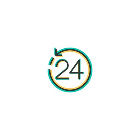24 Hours icon design. Shopping icon vector illustration