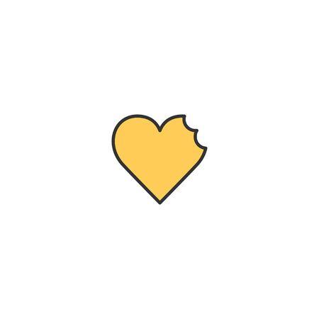 Broken heart Icon Design. Lifestyle icon vector illustration Illusztráció