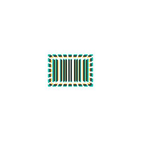 Barcode icon design. Shopping icon vector illustration