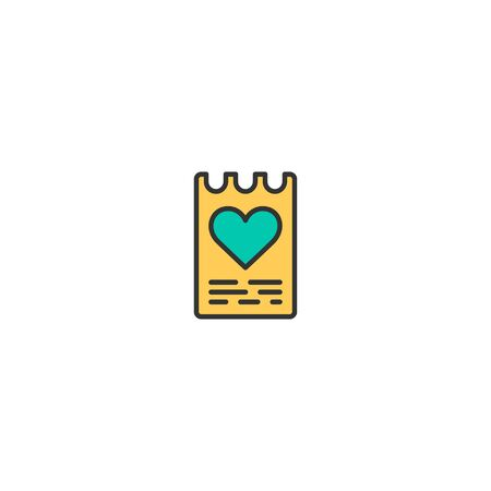Love letter Icon Design. Lifestyle icon vector illustration