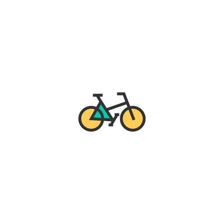 Bicycle icon design. Transportation icon vector illustration Ilustracja