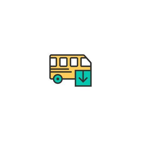 Bus icon design. Transportation icon vector illustration