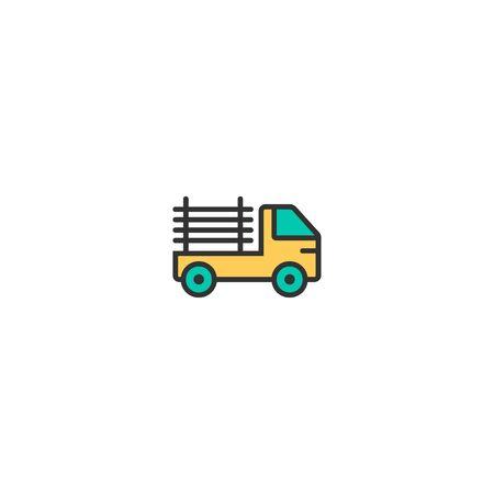 Pickup truck icon design. Transportation icon vector illustration