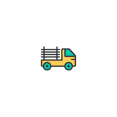 Pickup truck icon design. Transportation icon vector illustration