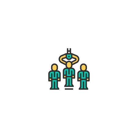 Human resources icon design. Startup icon vector illustration Иллюстрация