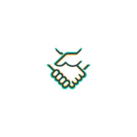 Deal icon design. Startup icon vector illustration Ilustracja