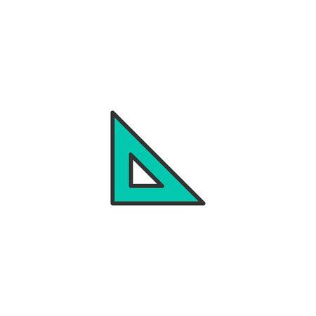 Set square icon design. Stationery icon vector illustration