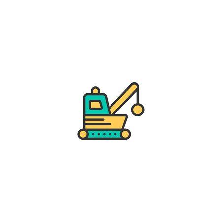 Demolishing icon design. Transportation icon vector illustration