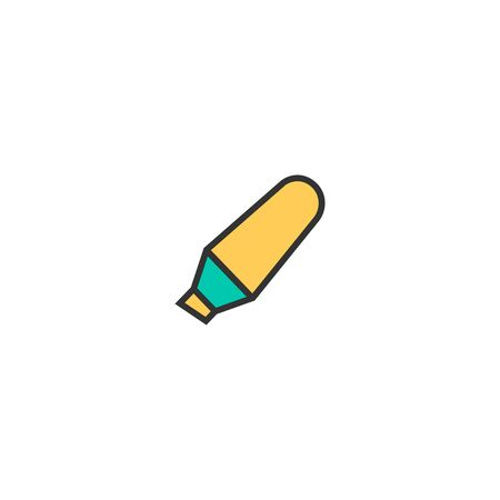 Highlighter icon design. Stationery icon vector illustration