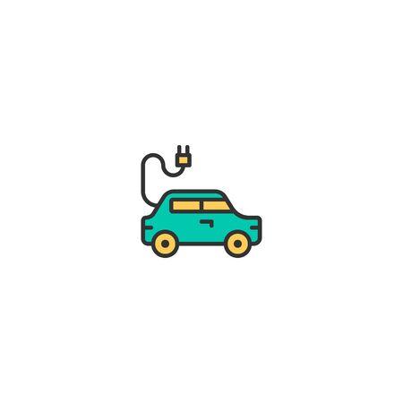 Electric car icon design. Transportation icon vector illustration Stock Illustratie