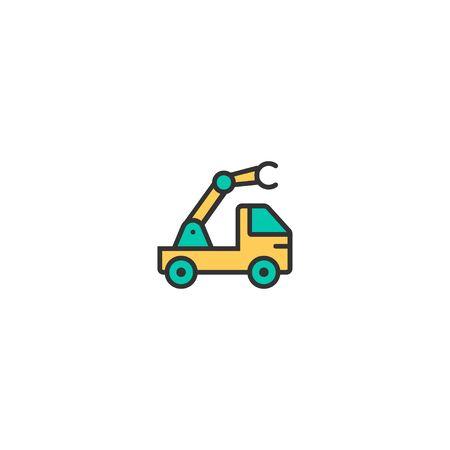 Crane icon design. Transportation icon vector illustration