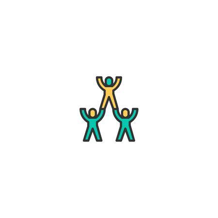 Teamwork icon design. Startup icon vector illustration Ilustracja