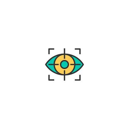 Vision icon design. Startup icon vector illustration