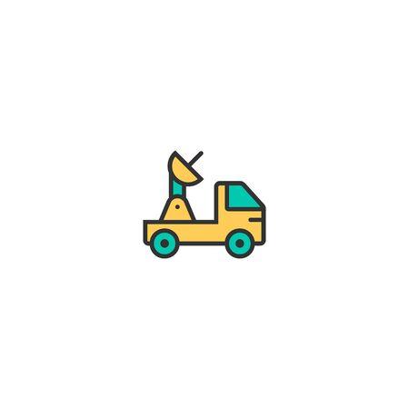 Satellite icon design. Transportation icon vector illustration Ilustração