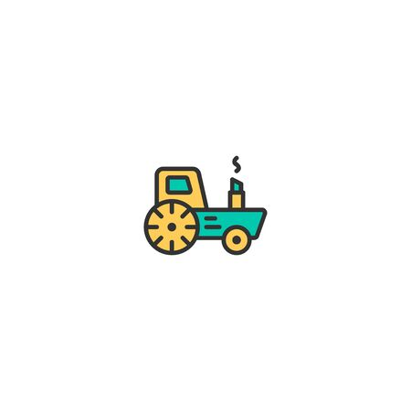 Tractor icon design. Transportation icon vector illustration