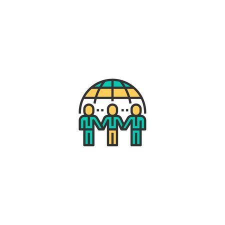 Partnership icon design. Startup icon vector illustration Ilustracja