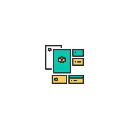 Identity icon design. Startup icon vector illustration