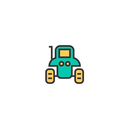 Tractor icon design. Transportation icon vector illustration