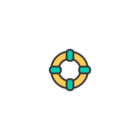 Lifesaver icon design. Transportation icon vector illustration