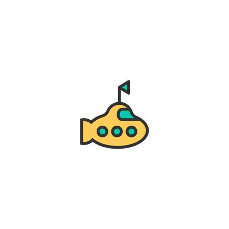 Submarine icon design. Transportation icon vector illustration Foto de archivo - 129276132