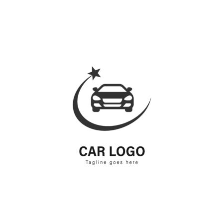 Car logo template design. Car logo with modern frame isolated on white background Ilustracja