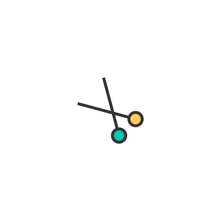 Scissors icon design. Stationery icon vector illustration
