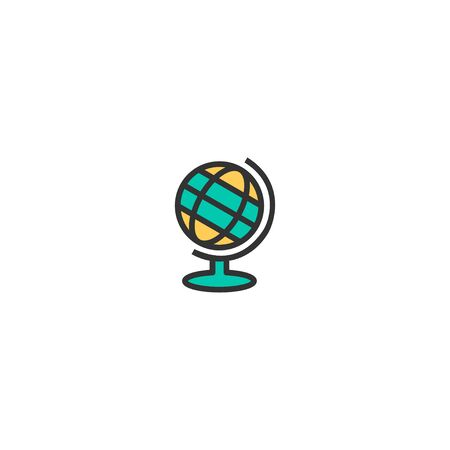 Earth globe icon design. Stationery icon vector illustration