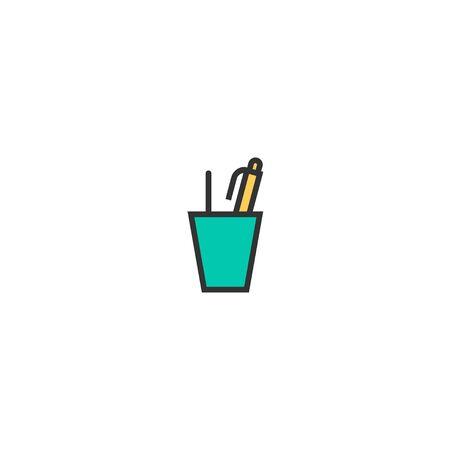 Writing tool icon design. Stationery icon vector illustration