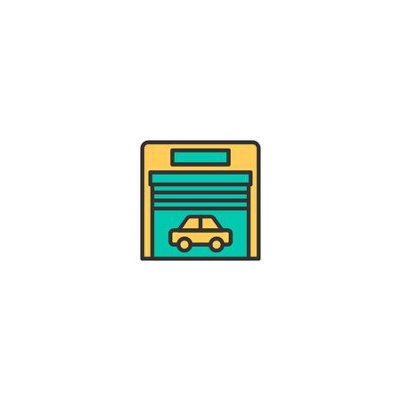 Garage icon design. Transportation icon vector illustration