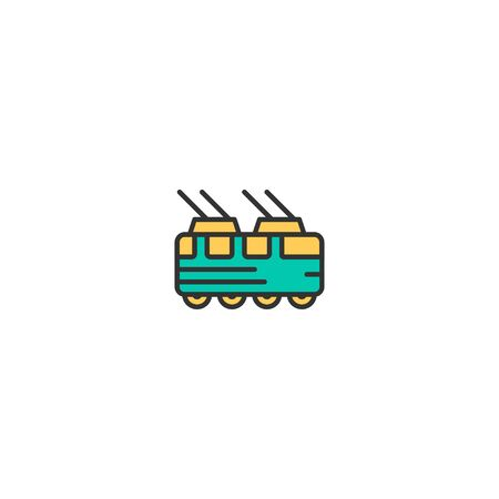 Tram icon design. Transportation icon vector illustration Ilustração