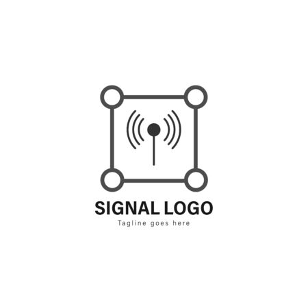 Signal logo template design. Signal logo with modern frame isolated on white background