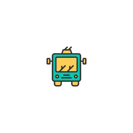Trolley icon design. Transportation icon vector illustration 일러스트