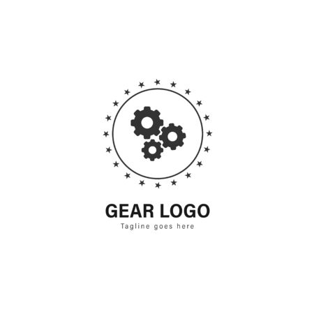 Automotive logo template design. Automotive logo with modern frame isolated on white background Stockfoto - 129276487