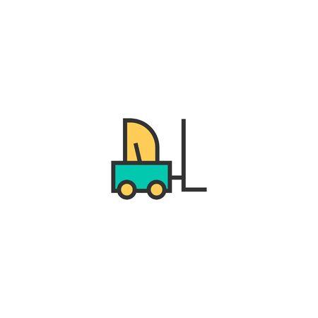 Forklift icon design. Transportation icon vector illustration