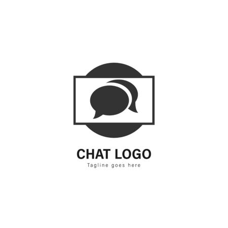 Chat logo template design. Chat logo with modern frame isolated on white background Stockfoto - 129276508