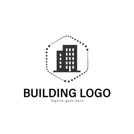 Building logo template design. Building logo with modern frame isolated on white background Stockfoto - 129276509